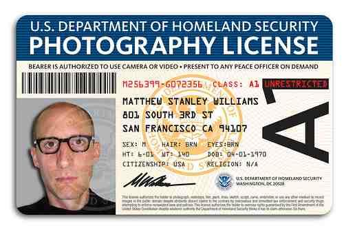 DHS Photography License
