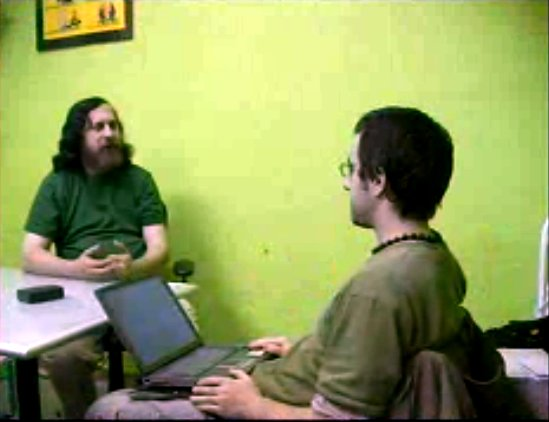 Richard Stallman in Madrid