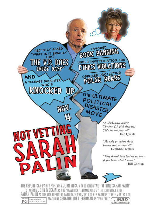 Not vetting Sarah Palin - MAD magazine