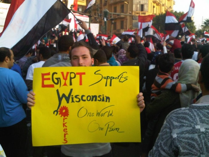 Egypt support Wisconsin Workers